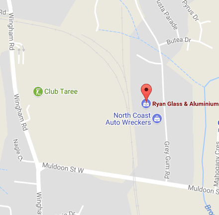 location map for Ryan Glass & Aluminium